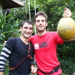Jon and Victor with a Freshly Rescued Coconut